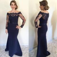Navy Blue Lace Long Mother Of The Bride Dresses 2016, Long ...