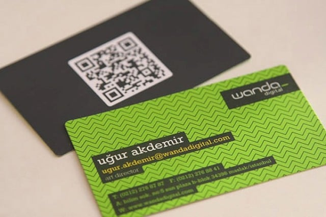 22 Great Examples of QR Code Business Cards and Business Card Designs