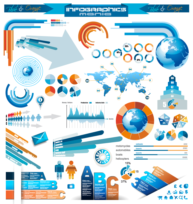 Infographics and Chart Design Free Vector Graphic Download