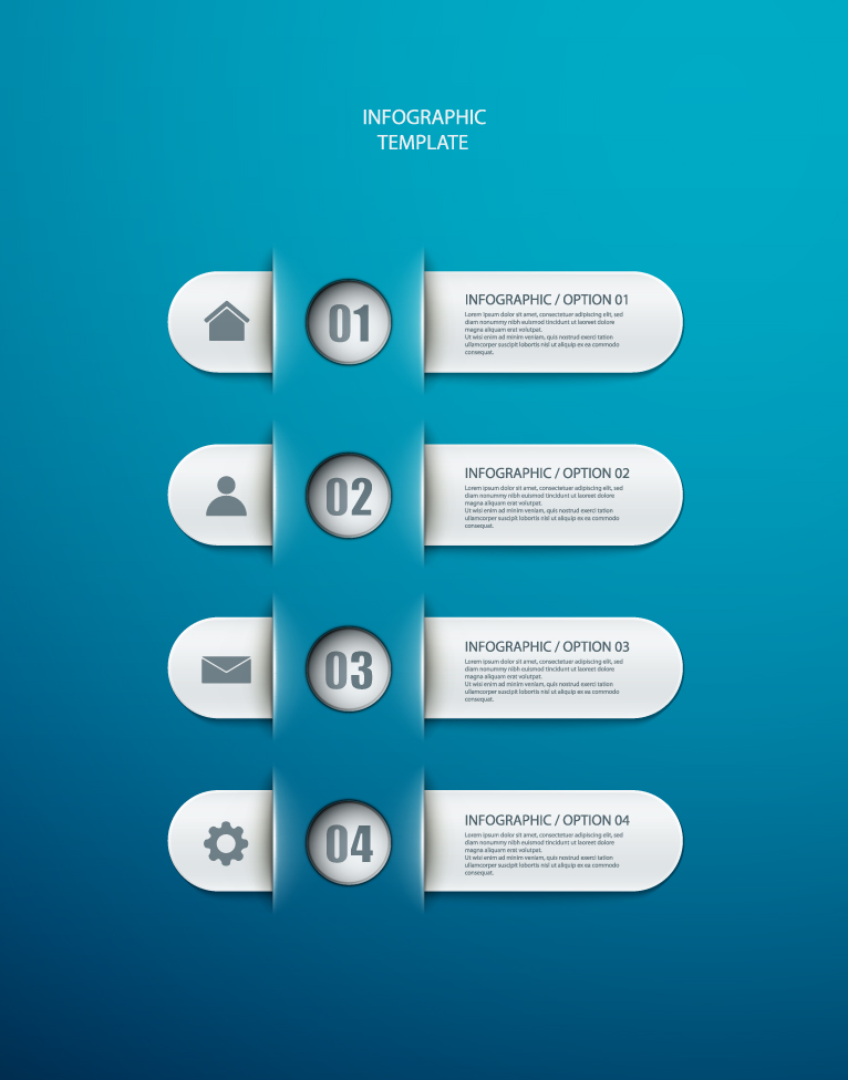 Infographic Number Template 3 Free Vector Graphic Download
