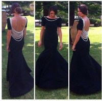 Prom Dresses,Open Back Prom Gowns,Black Prom Dresses 2017 ...