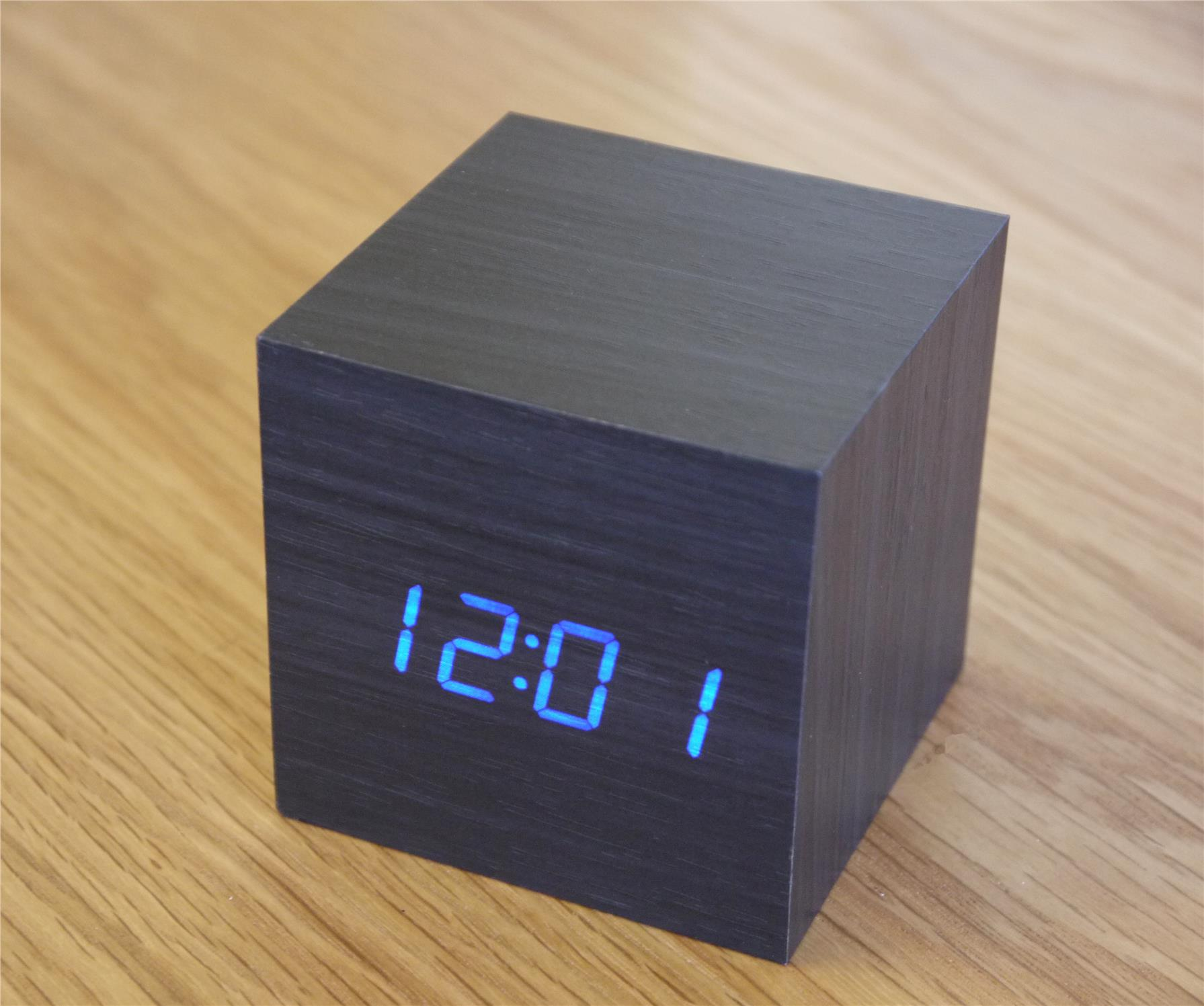 Small Led Alarm Clock Airgear Mini Wooden Cube Led Alarm C End 7 28 2018 3 15 Pm