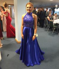Sexy Royal Blue Prom Dresses,2 Piece Prom Dress,Two Piece ...
