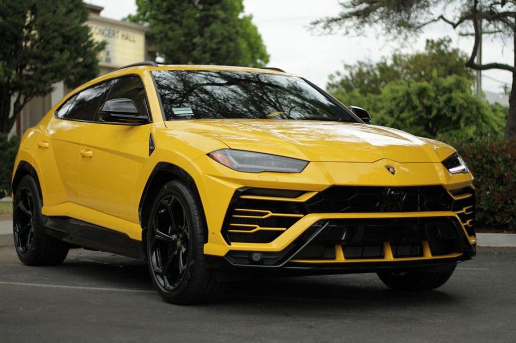 Sporty Yellow Lamborghini Urus Rental Los Angeles