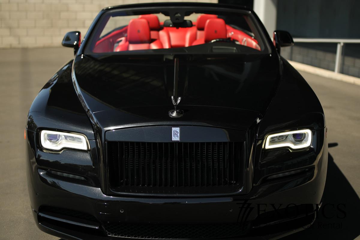 Rolls-Royce-Dawn-Black-Badge-Front-View Rolls Royce Dawn Rental