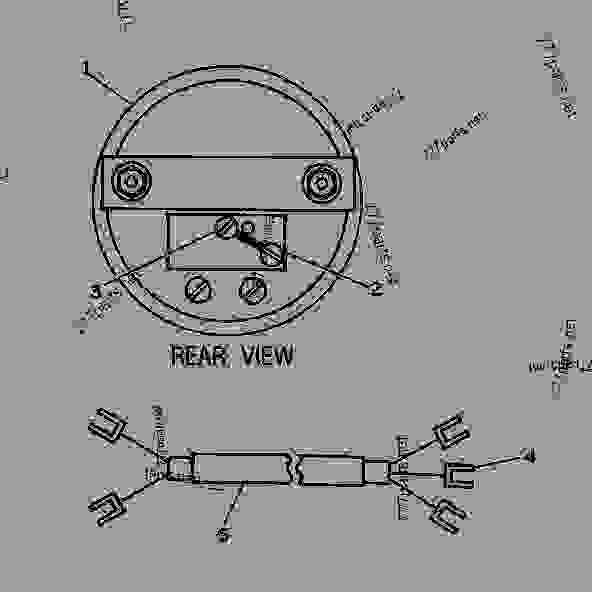 tachometer schema cablage for caterpillar