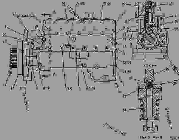 3406b cat engine fuel pump diagram