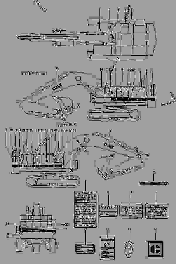 caterpillar body parts diagram