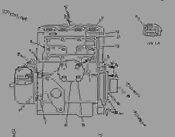caterpillar 3304 engine block heater parts diagram
