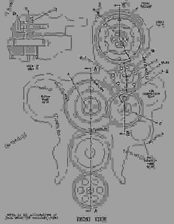 2070449 GEAR GROUP-FRONT - ENGINE - MARINE Caterpillar C15 - C15