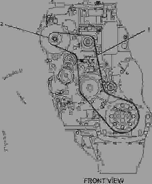 cat 3126 serpentine belt diagram