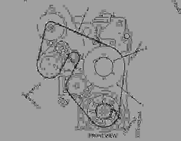 cat c13 engine serpentine belt diagram
