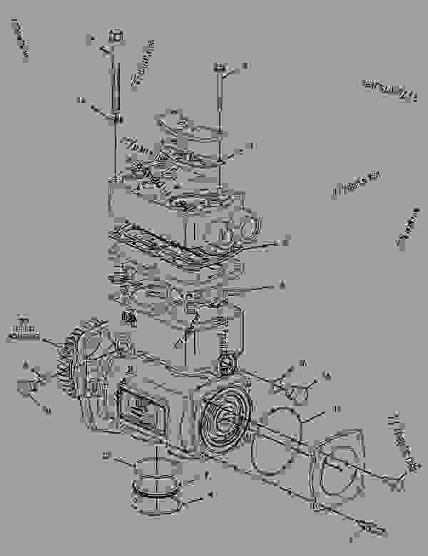 cat c15 acert airpressor diagram