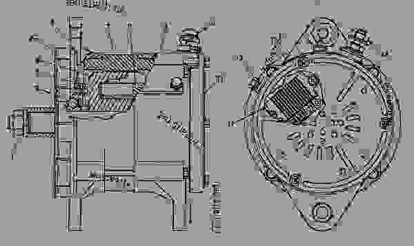 caterpillar alternator wiring diagram