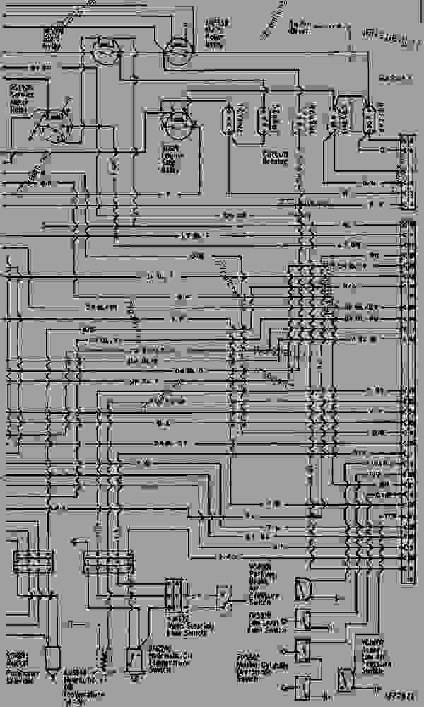WIRING DIAGRAM - WHEEL-TYPE LOADER Caterpillar 950E - 950B WHEEL
