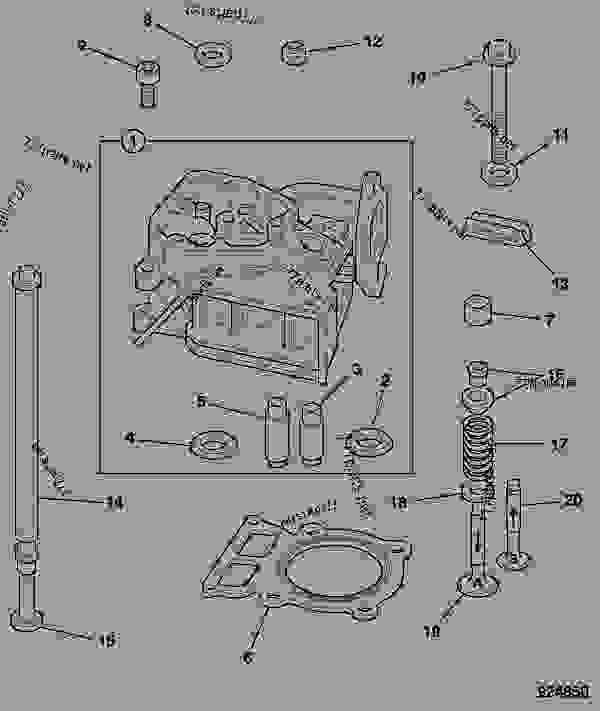 CYLINDER HEAD, VALVE ASSEMBLY, 15LD350 - CONSTRUCTION JCB HTD 5