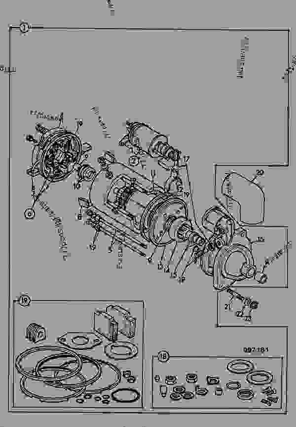 jcb starter wiring diagram schematic