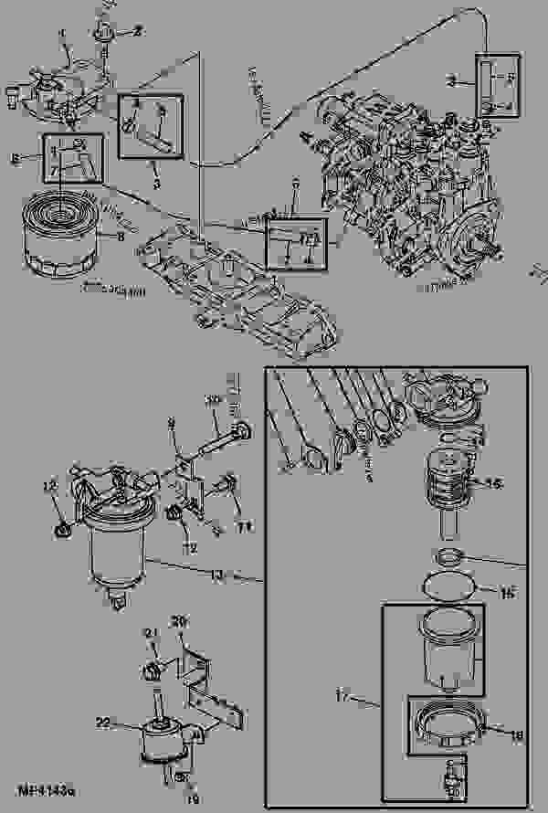 in line fuel filter water separator