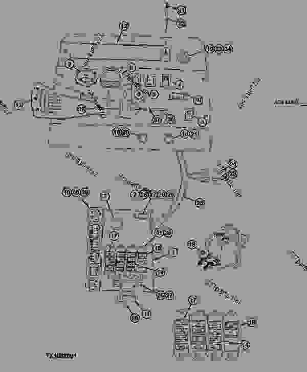 Instrument Panel Gauges and Switches ( - 880053) - LOADER John Deere