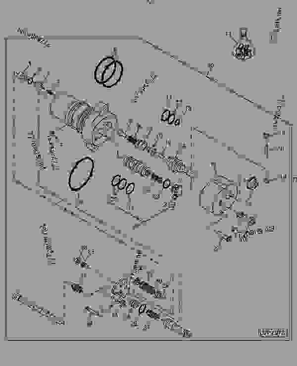 ROCKSHAFT CONTROL VALVE - TRACTOR John Deere 5205 - TRACTOR - 5105