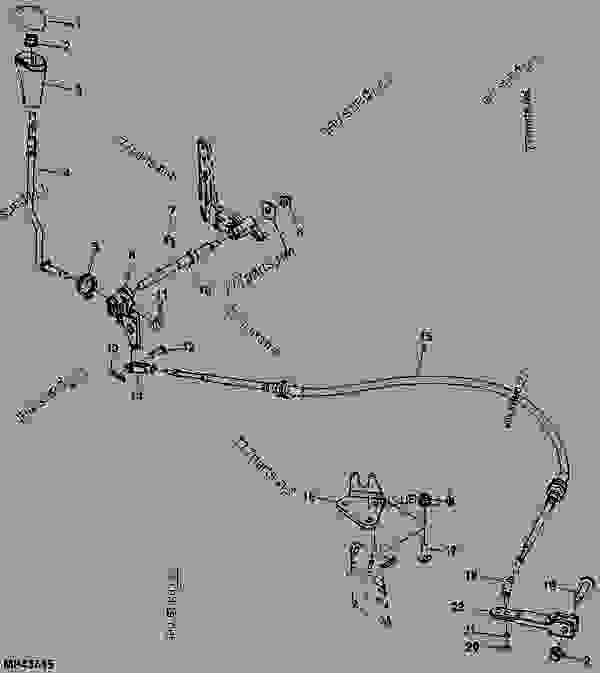 Shift Linkage (090001 - ) - UTILITY VEHICLE John Deere HP - UTILITY