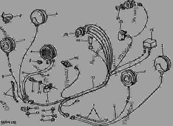 ELECTRICAL WIRING HARNESS 01D24 - TRACTOR John Deere 2840