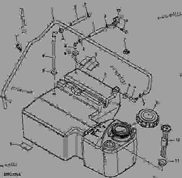 Fuel Tank ( - 090000) - UTILITY VEHICLE John Deere GATOR - UTILITY