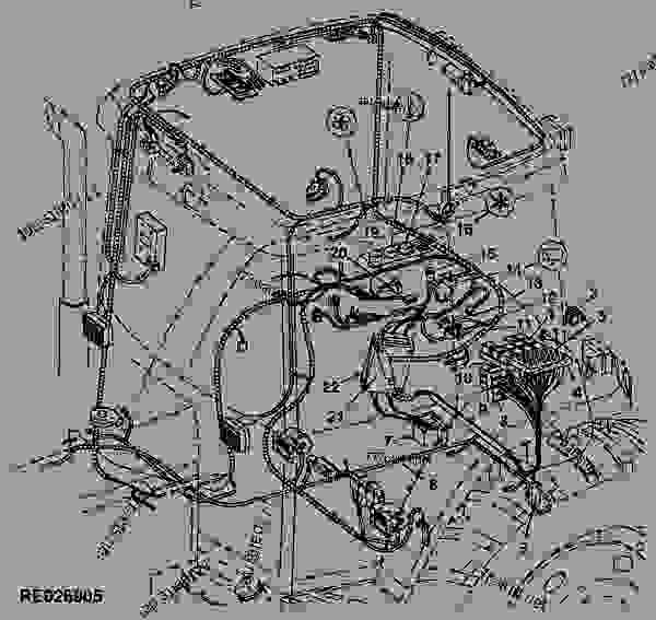 WIRING HARNESS (CAB) - TRACTOR John Deere 7210 - TRACTOR - 7210
