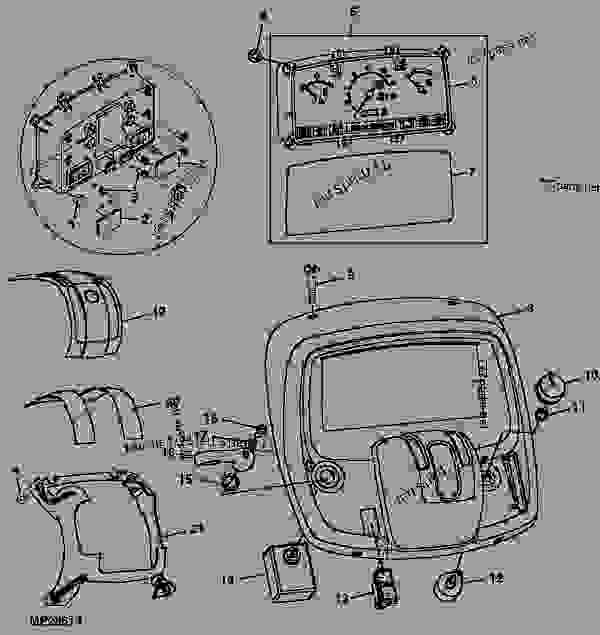 INSTRUMENT PANEL (HST) 12 - TRACTOR, COMPACT UTILITY John Deere