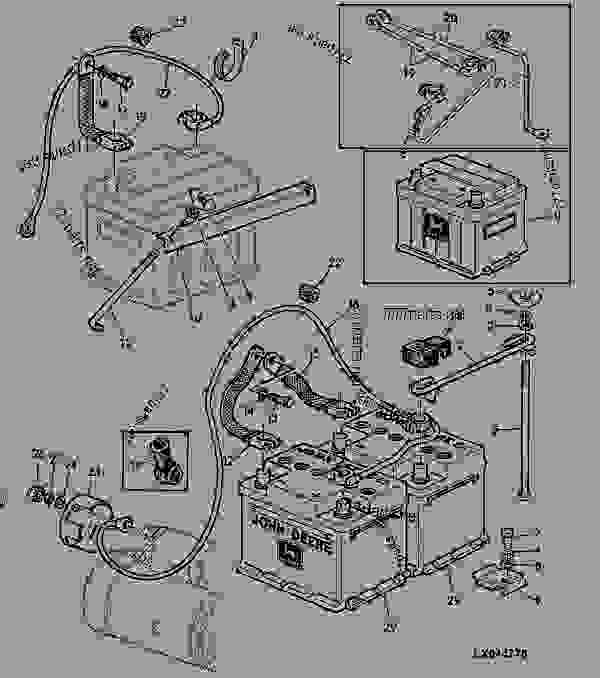 BATTERY 9 - TRACTOR John Deere 1040 - TRACTOR - 940, 1040, 1140