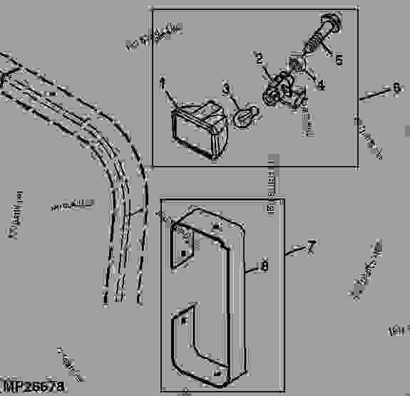 WORK LIGHT KIT 01C24 - TRACTOR, COMPACT UTILITY John Deere 4410