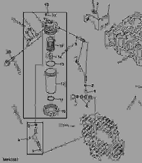 855d gator fuel filter