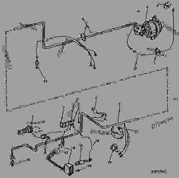 MAIN WIRING HARNESS 01E09 - TRACTOR John Deere 2640 - TRACTOR