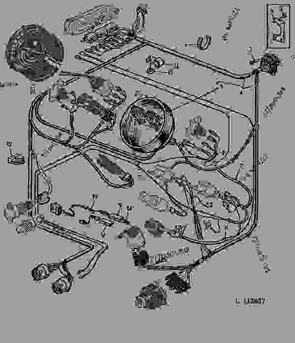 WIRING HARNESS-DASH (BILUX) 40 - TRACTOR John Deere 1040 - TRACTOR