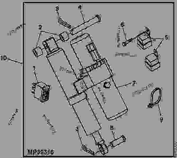 HYDRAULIC LIFT KIT - UTILITY VEHICLE John Deere 620I - UTILITY