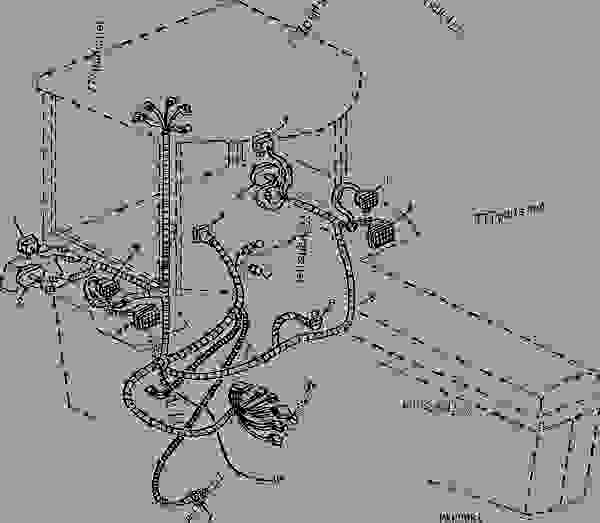 WIRING HARNESS (LAMP) (SGB) - TRACTOR John Deere 4960 - TRACTOR