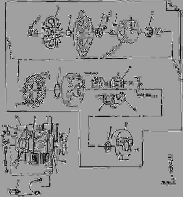 john deere 90 amp alternator wiring diagram