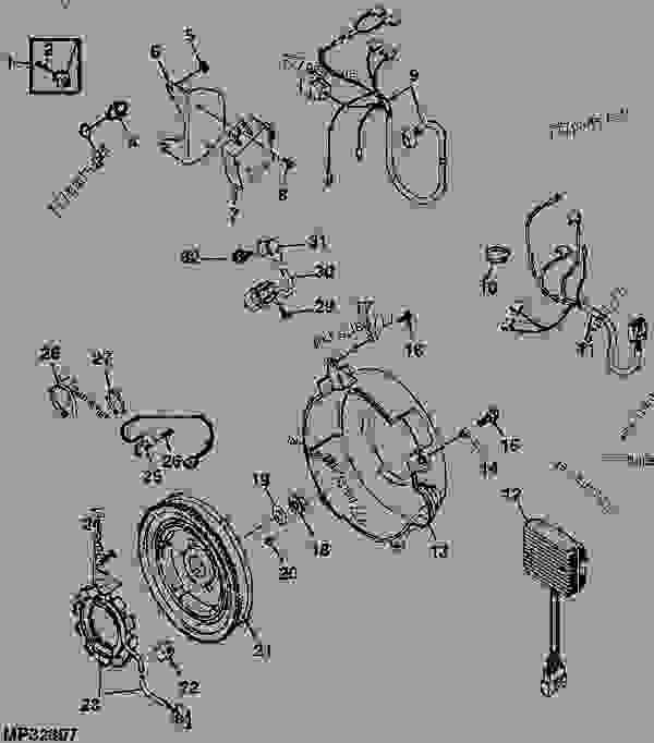John Deere Gator Ignition Parts Wiring Schematic Diagram