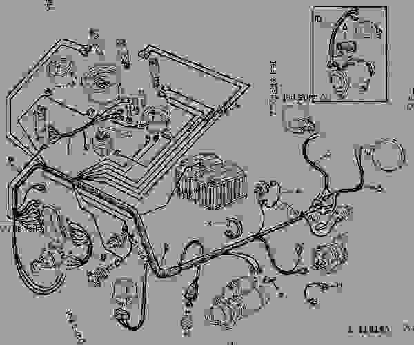 1020 john deere wiring harness diagram