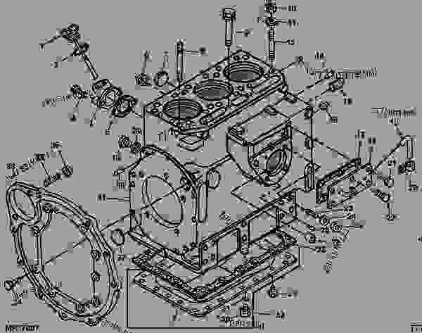 john deere 850 tractor engine parts