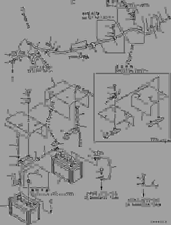 battery schematic komatsu pc 60 7