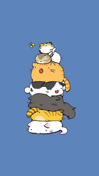 Anime Wallpaper Cute Gif Gatos On Tumblr