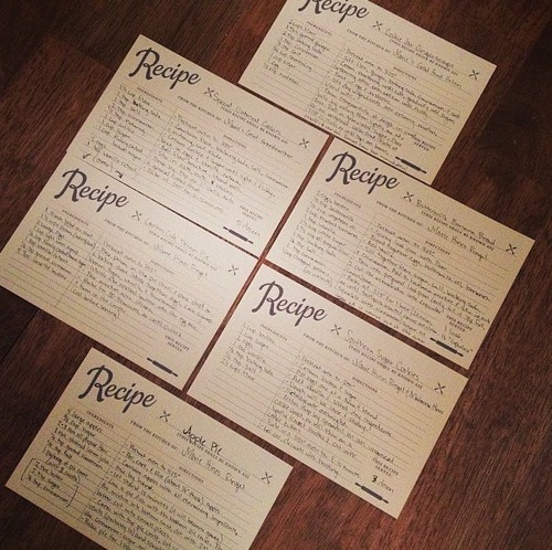 Free Recipe Card Template! Marie Hines - double recipe cards