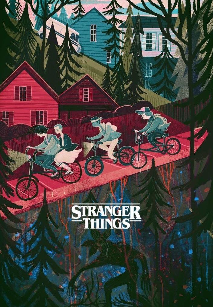 Greavity Falls Wallpaper Iphone Aesthetics 222 Stranger Things By Kjm Illustration