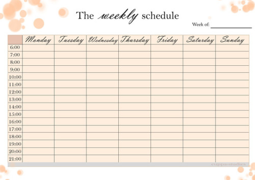 study planner printable Tumblr - exam study schedule template