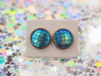 ocean blue earrings | Tumblr