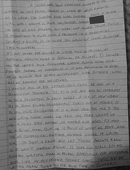 A MUSEUM OF THE MAD,MORBID AND MACABRE \u2014 Letter Written By School