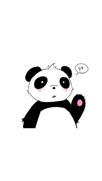 Wallpaper Girl Pink Iphone Panda Lockscreen Tumblr