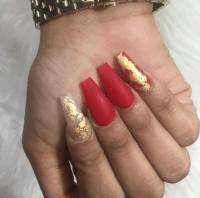 red matte nails | Tumblr