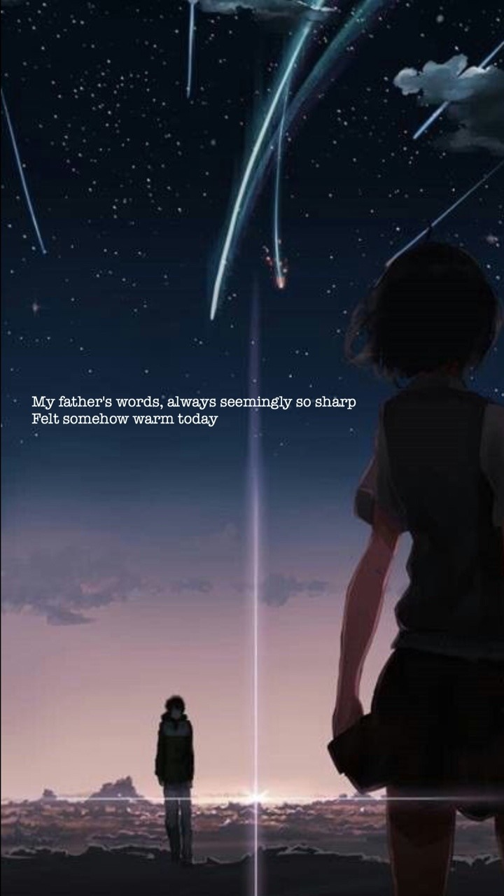 Girl Wallpaper App Lockscreens📱 Kimi No Na Wa Radwimps Nandemonaiya